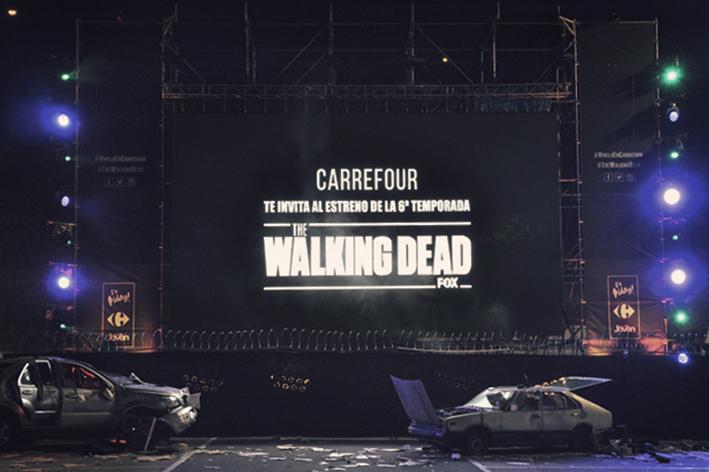 The Walking Dead estrena su 6ª temporada en un terrorífico autocine