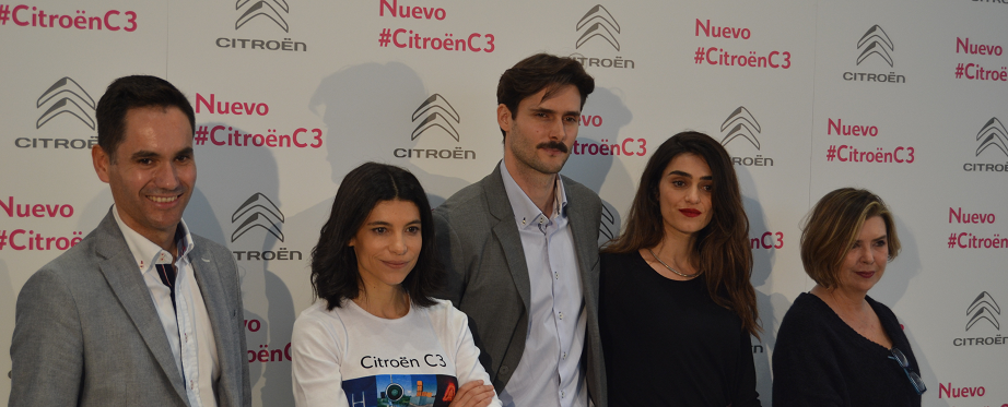 Olivia Molina, Sergio Mur e Irene Visedo presentan el nuevo Citroën C3