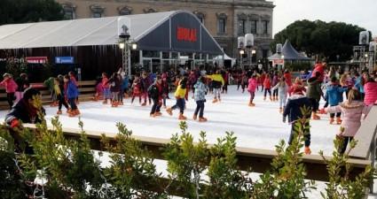 pista de patinaje sobre hielo madrid