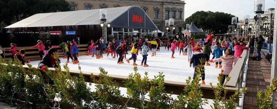 Madrid patina sobre hielo esta Navidad