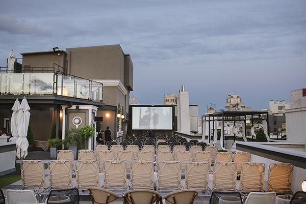 Cine de verano en la azotea del Hotel Emperador de Madrid